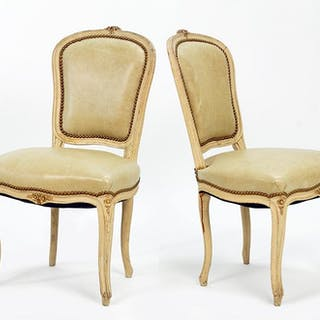 A Set of Six Louis XV Style Side Chairs.