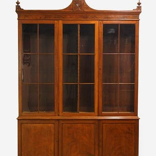 A 19th Century English Mahogany Library Cabinet.