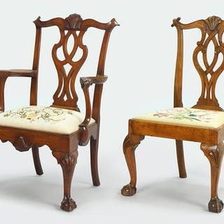 A 19th Century Chippendale Carved Mahogany Open