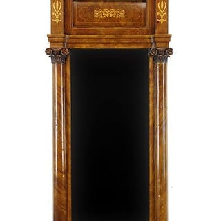 An Empire Style Pier Mirror.