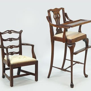 A Chippendale Style Carved Mahogany Diminutive Chair.