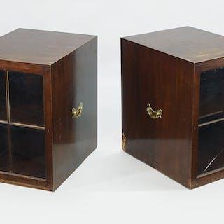 A Pair of 19th Century Mahogany Cabinet.