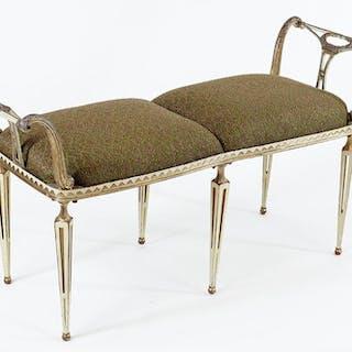 A Palladio Regency Style Bench.