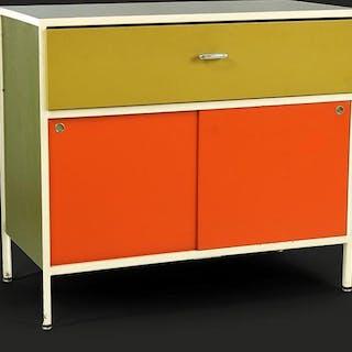 A George Nelson & Associates Steelframe Cabinet.