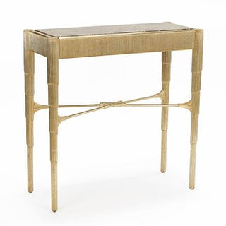 A Silver Leaf Console Table.