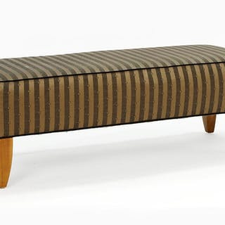 A Todd Hase Upholstered Bench.