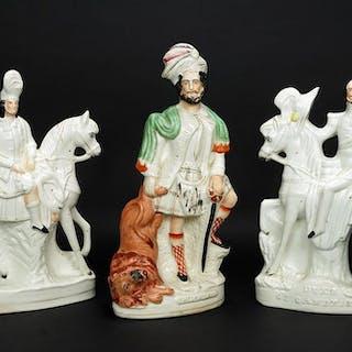 Three Staffordshire Figures.