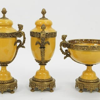 A French Style Garniture Set.