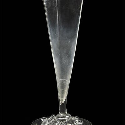 A Frederick Carder for Steuben Single Prong Vase.