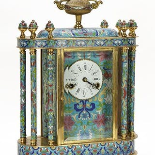 A Chinese Cloisonne Mantle Clock.