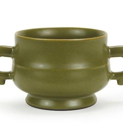 A Chinese Teadust Glazed Censer.
