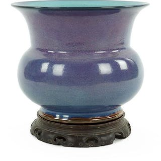 A Chinese Jun Ware Porcelain Jardiniere.