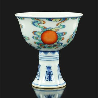 A Chinese Doucai Porcelain Stem