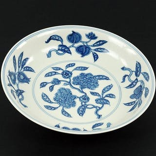 A Chinese Blue and White Porcelain Dish.
