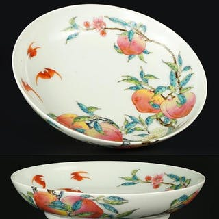 A Pair of Chinese Famille Rose Porcelain 'Peach'