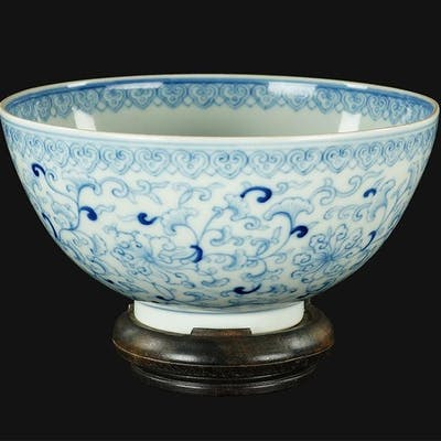A Chinese Blue and White Porcelain Bowl.