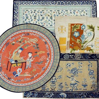 A Collection of Chinese Embroidered Silk Panels.