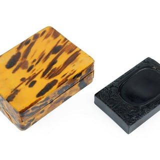 A Chinese Tortoise Shell Ink Stone Case.