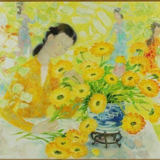 Le Pho (Vietnamese, 1907-2001) Les Soucia.