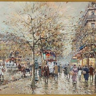 Antoine Blanchard ( French, 1910-1988) Boulevard