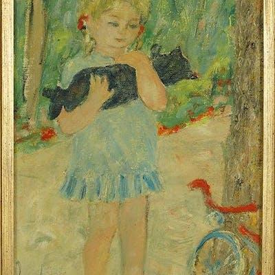 Jocelyn Seguin (French, 1921-1999) Le Chat et la Petite