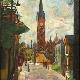 Francis Chapin (American, 1899-1965) Old Town, View of