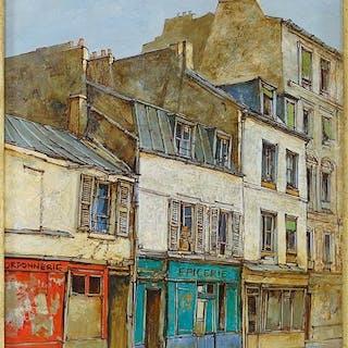 Jean Keime (French, B. 1932) Rue de la Mare, Paris