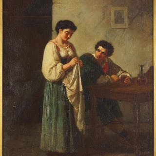 Gennaro Guglielmi (Italian, 1804-1887) Man and Woman in