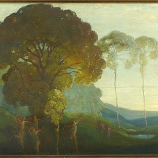 Walter Caruth Emerson (American, B. 1912) Idyllic
