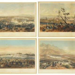 After CArl Nebel 9German, c. 1805-1855) Four Plates.