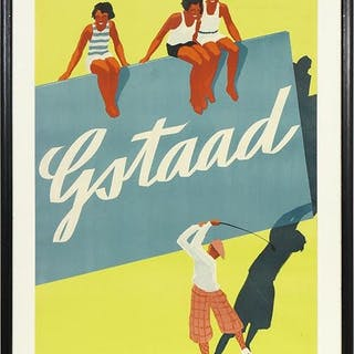 Alex Walter Diggelmann (Swiss, 1902-1987) Gstaad Golf.