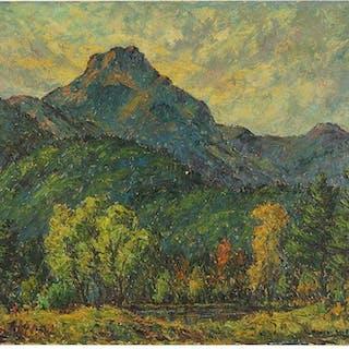 Rupert Lovejoy (American, 1885-1975) Sunset Back of Mt.
