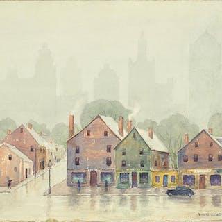 Rupert Lovejoy (American, 1885-1975) City Scene.