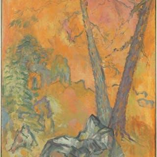 Max Kahn (American, 1903-2005) Garden in a Golden