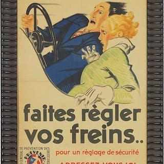 Rene Vincent (French, 1879-1936) Faites Regler Vos