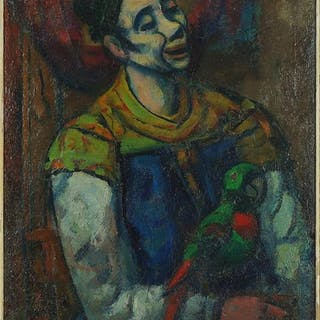 Gerrit Hondius (Dutch-American, 1891-1970) Clown with