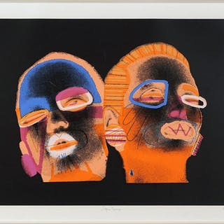 Ed Paschke (American, 1939-2004) Sepia Deux.