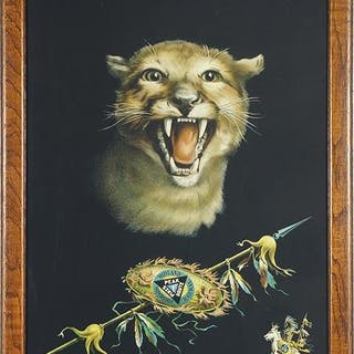 Colorado Midland Railway Poster Rocky Mountain Lion.