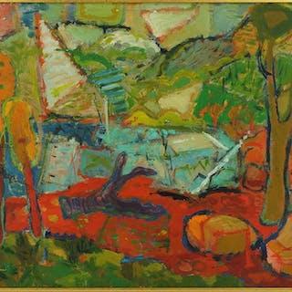 Abbott Pattison (American, 1916-1999) Landscape.