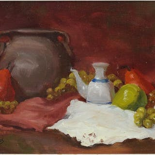 Jayne Bellows (American, Contemporary) Still Life With