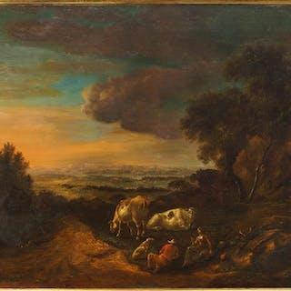 Artist Unknown (19th Century) Bucolic Landscape.
