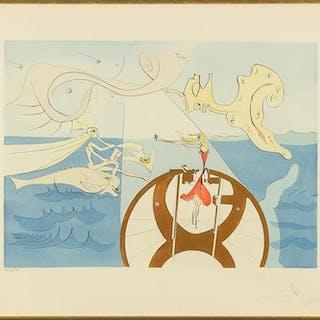 Salvador Dali (Spanish, 1904-1989) La Machine a Coudre.
