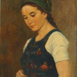 Lourins (20th Century) Girl in a Vest.
