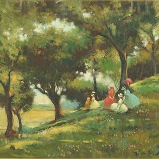 Juan Giralt-Levin (Spanish, B. 1920) La Arboleda.