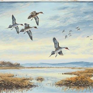 David Maass (American, B. 1929) Dusk on the Flats.