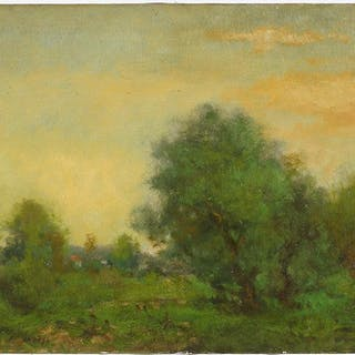 George Inness (American, 1825-1894) A Summer Landscape.