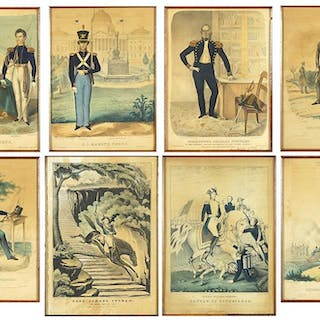A Collection of 19th Century American Military Prints.