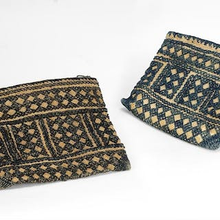 Two Choctaw Flat Pouches.