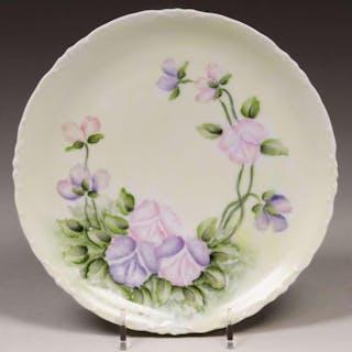 Arts & Crafts Hand-Decorated Bavarian Porcelain Plate