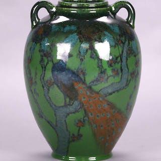Rookwood E.T. Hurley Jeweled Porcelain Two-Handled